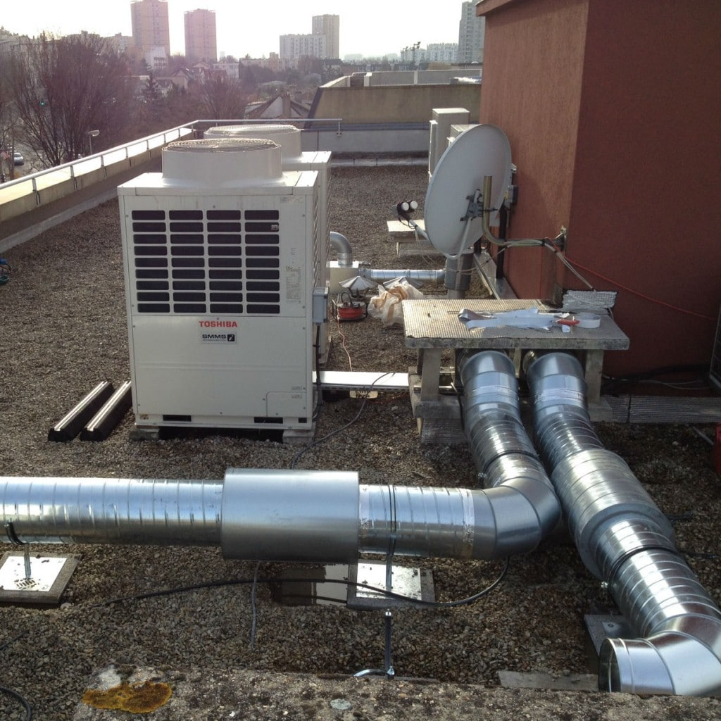 Pose d'un VRV et d'une Centrale de traitement d'air