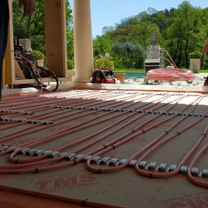 Installation d'un plancher chauffant au sein d'une villa